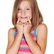 Young girl mimic a smile. — Stock Photo #3540640