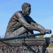 Stock Photo: Rower statue