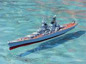 Model warship — Stock Photo