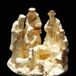 A small porcelain nativity. - Stock Photo