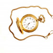 Stock Photo: Open pocket watch.