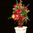 Silk flower with stand. — Stock Photo