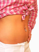 Belly button jewelry. — Stock Photo