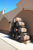 Old wine barrel. — Stock Photo