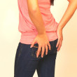 Young girl in jeans. — Stock Photo