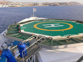 Helicopter deck on cruse ship. — Stock Photo