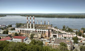 Building a power station in the city of Samara. — Stock Photo