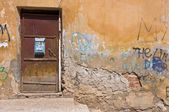 Old door and mailbox. — Stock Photo