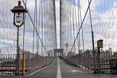 Brooklyn Bridge's Pathway — Stock Photo