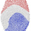 Dutch flag Fingerprint - Stock Photo