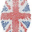 Royalty-Free Stock Photo: UK  flag Fingerprint