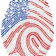 Royalty-Free Stock Photo: Usa flag Fingerprint