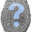 Help question mark Fingerprint — Stock Photo