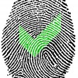 Stock Photo: Accepted action Fingerprint