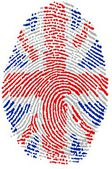 UK flag Fingerprint — Stock Photo