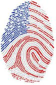 Usa flag Fingerprint — Stock Photo