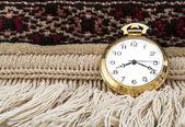 Gold pocket watch — Stock Photo
