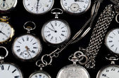 Cracked silver pocket watch — Stock Photo