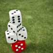 Piled dice — Stock Photo