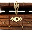 Stock Photo: Wooden treasure chest