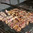Meat barbecue grill — Stock Photo