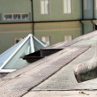 Roof gutter — Stock Photo