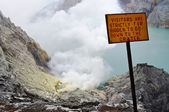 Ijen Crater — Stock Photo