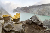 Sulfur from Ijen Crater — Stock Photo