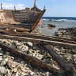 Wooden shipwreck — Stock Photo