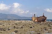 Naufrágio no litoral — Foto Stock