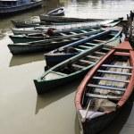 Boats in Jakarta slum — Stock Photo #3919705