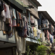 Hanging Cloths in Jakarta — Stock Photo