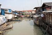 Slum in Jakarta — Stock Photo
