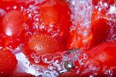 Washing Tomatoes — Stock Photo