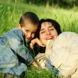 Mother and son outdoors — Stock Photo #3261761