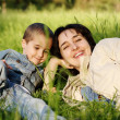 Mother and son outdoors — Stock Photo #3261766