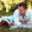 Loving couple in park — Stock Photo #3898673