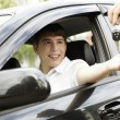 Happy driver — Stockfoto