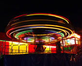 Bright lights of merry-go-round — Stock Photo