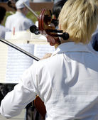 On the open air concert — Stock Photo