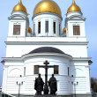 New Russian orthodox church — Stock Photo