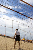 Soccer on the beach — Stock Photo