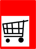 Shopping symbol — Stock Photo