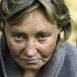 Stock Photo: Homeless woman