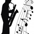 Jazz for sax — Stock Photo