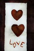 Love (valentine card) — Stock Photo
