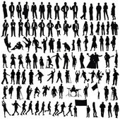 Isolated silhouettes on the white background ,all made from my photos — Stock Photo