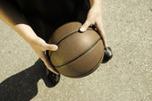 Basketball on the street — Stock Photo