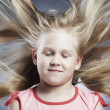 Stock Photo: Little girl with developing hair1