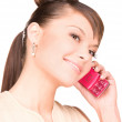 Happy woman with cell phone — Stock Photo #3248645